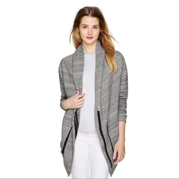 Aritzia Wilfred Free Rousseau Zip up Grey Sweater